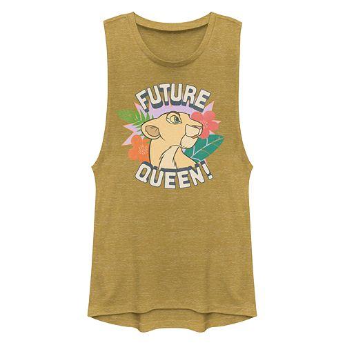 Junior's Disney's The Lion King Nala Future Queen Portrait Muscle Tank Top