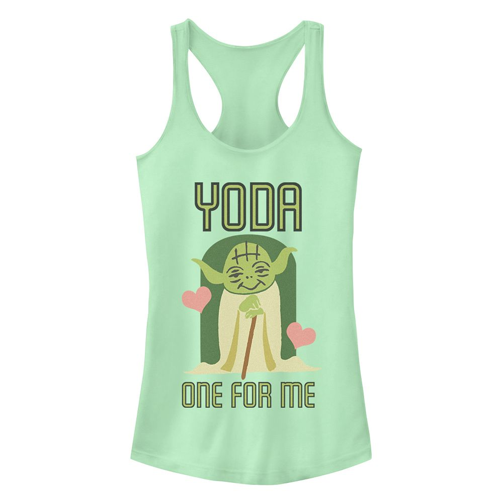 Junior's Disney's Star Wars Yoda One For Me Racerback Tank