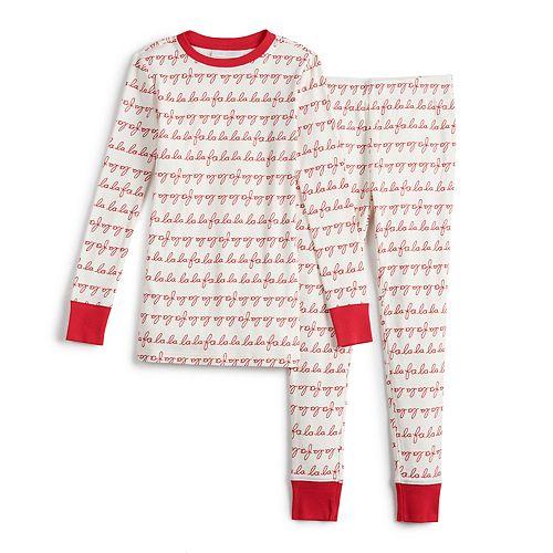 Boys 4-20 LC Lauren Conrad Jammies For Your Families® Fa La La Top & Bottoms Pajama Set
