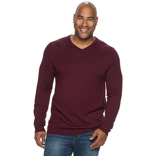 Big & Tall Apt. 9® Slim-Fit Merino Blend Knitted Pullover Sweater