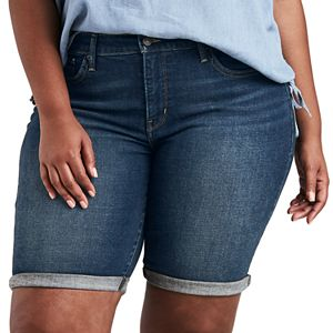 bd98334b Plus Size Lee Flex Motion Cuffed Bermuda Jean Shorts