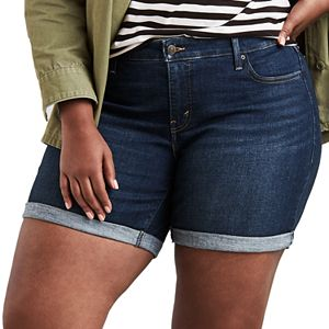 a90f4ae2 Plus Size Levi's® Shaping Bermuda Jean Shorts. (4). Sale