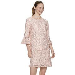 Women's ELLE™ Bell-Sleeve Lace Shift Dress