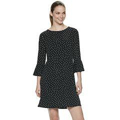 Women's ELLE™ Bell-Sleeve Shift Dress