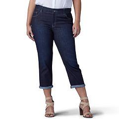 Plus Size Lee Flex Motion Capri Jeans