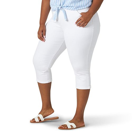 Plus Size Lee® Flex Motion Capri Jeans