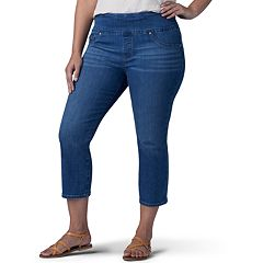 5296badd15a Plus Size Lee Sculpting Pull-On Capri Jeans