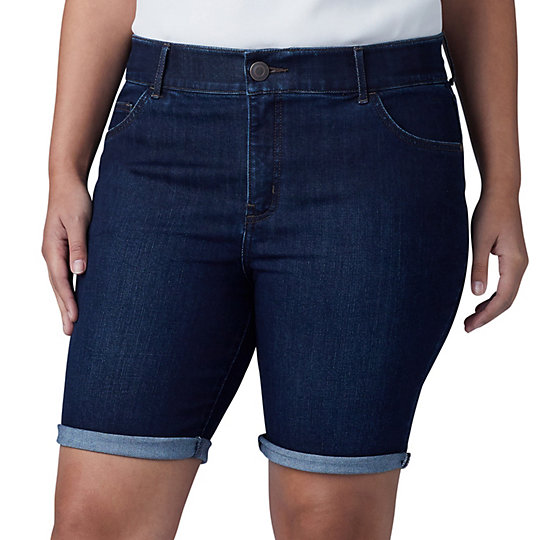 043ed82670 Plus Size Lee Flex Motion Cuffed Bermuda Jean Shorts. SALE $24.99