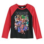 Boys 8-20 Marvel Group Raglan Tee