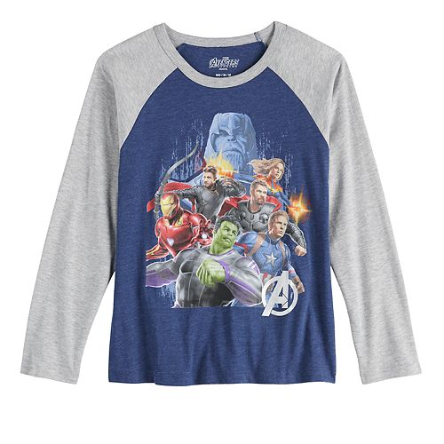 Boys 8-20 Marvel Avengers Raglan Tee