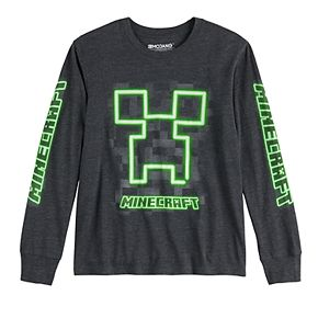 Boys 8-20 Minecraft Creeper Face Tee