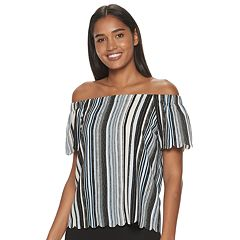 Women's ELLE™ Scallop Off The Shoulder Top