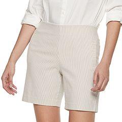 Women's ELLE™ Seersucker Twill Bermuda Shorts