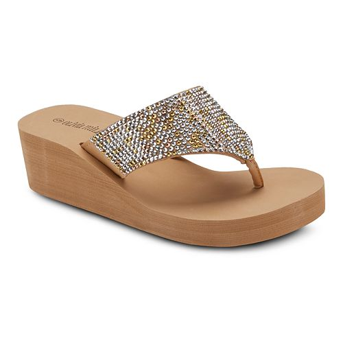 Olivia Miller 'Happy' Women's Wedge Sandals