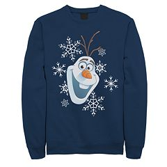 Juniors' Disney's Frozen Olaf Snow Portrait Crew Fleece Sweater