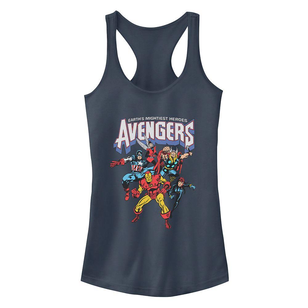 Juniors' Marvel Comics Retro Avengers Group Racerback Tank Top