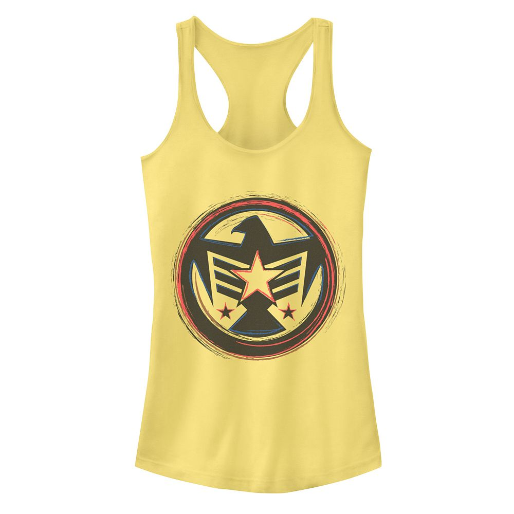 Juniors Marvel Falcon America Logo Tank