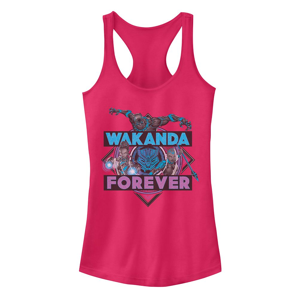 Juniors Marvel Black Panther Wakanda Forever Trio Tank