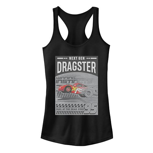 Juniors' Disney/Pixar's Cars Dragster Poster Racerback Tank Top