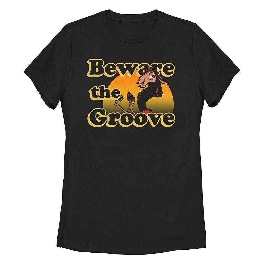 "Juniors' Disney/Pixar's The Emperor's New Grove Kuzco ""Beware The Groove"" Missy Crew Tee"