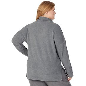 Plus Size Cuddl Duds Fleecewear with Stretch Lounge Long Sleeve Tunic