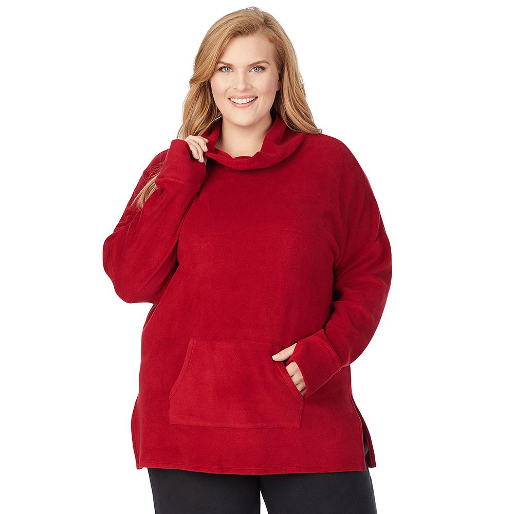 Plus Size Cuddl Duds® Fleecewear with Stretch Lounge Long Sleeve Tunic
