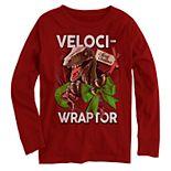 "Boys' ""Veloci-Wraptor"" Long Sleeve Graphic Tee"