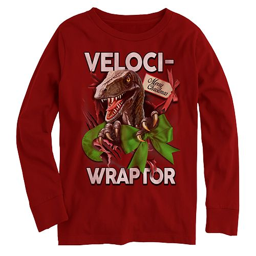 "Boys' ""Veloci-Wraptor"" Long Sleeve Graphic Tee"