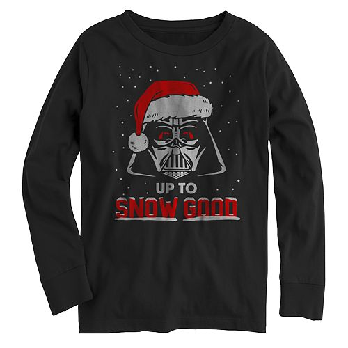 "Boys' 8-20 Star Wars ""Up To Snow Good"" Long Sleeve Graphic Tee"