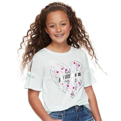 Girls 7-16 SO® Plus Feminine Tie Shoulder Tee