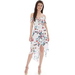 efffceee86fc Juniors' IZ Byer Cold Shoulder High-Low Maxi Dress