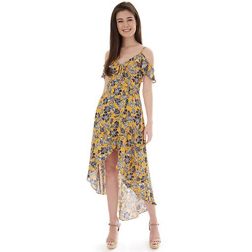 71c921e07 Juniors' IZ Byer Cold Shoulder High-Low Maxi Dress
