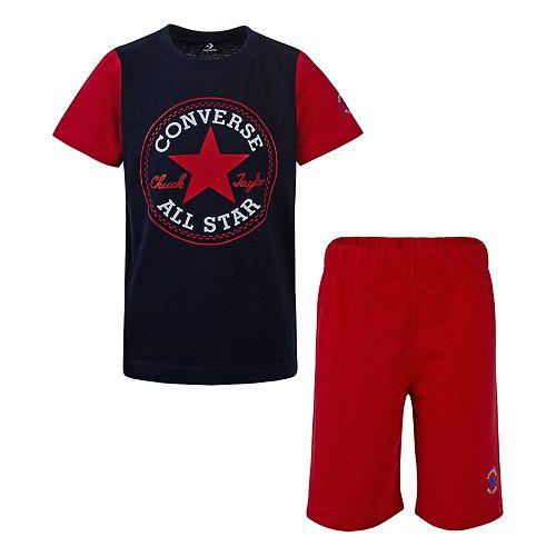Boys 4-7 Converse Graphic Tee & Shorts Set