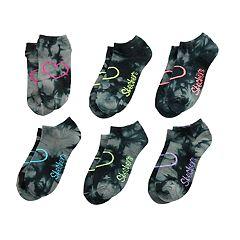 Girls 7-16 Skechers 6-pack Low-Cut Tie Dye Socks