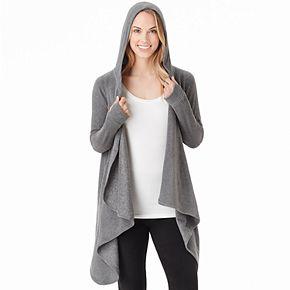 Women's Cuddl Duds Fleecewear with Stretch Long Sleeve Hooded Wrap