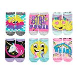 Girls 7-16 Skechers 6-pack Side by Side Low-Cut Emoji Socks