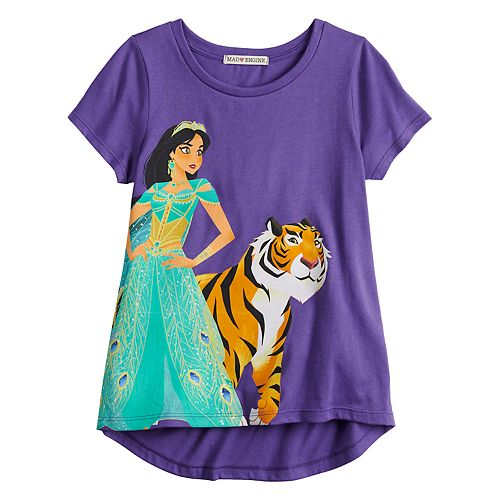 """Disney's Aladdin Girls 7-16 """"On Top of the World"""" Jasmine Tee"""