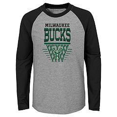Boys 4-18 Milwaukee Bucks Tech Net Raglan Tee