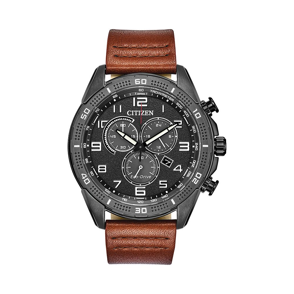 Drive from Citizen Eco-Drive Men's AR Leather Chronograph Watch - AT2447-01E