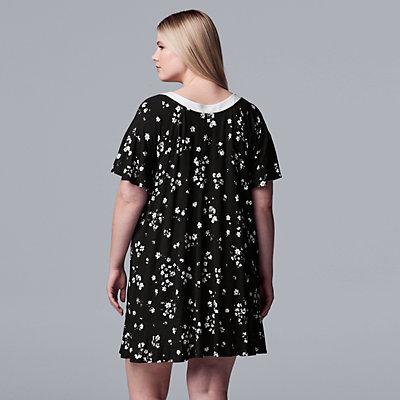 Plus Size Simply Vera Vera Wang Short Sleeve Sleepshirt