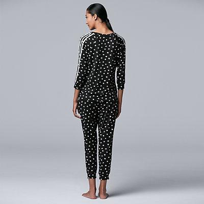 Women's Simply Vera Vera Wang Sleep Top & Cropped Pajama Pants Set