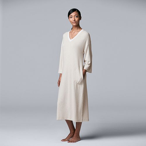 Women's Simply Vera Vera Wang Long V-Neck Sleepshirt