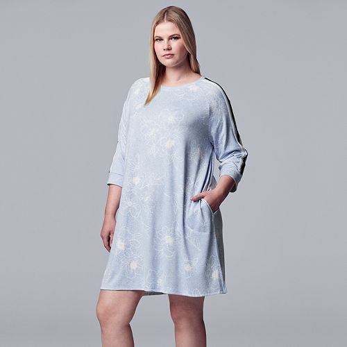234eb605 Plus Size Simply Vera Vera Wang Crewneck Sleepshirt