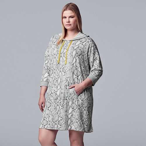 Plus Size Simply Vera Vera Wang Hooded Sleepshirt