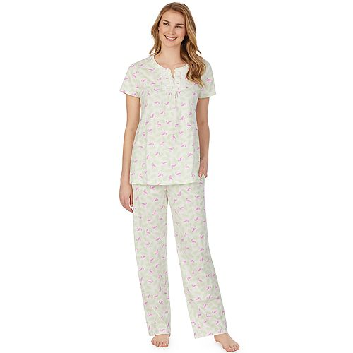 Womens Aria Short Sleeve Pajama Set
