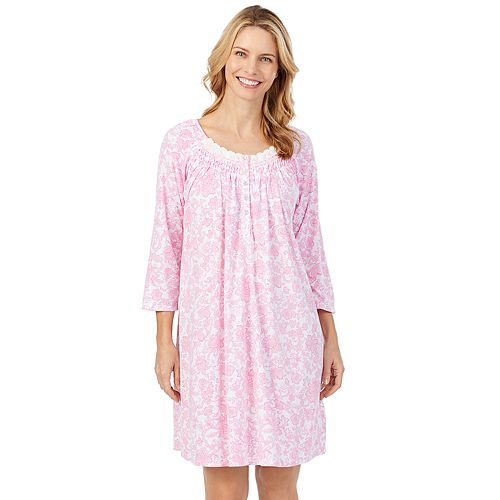 Women's Aria Lace-Trim Knit Nightgown
