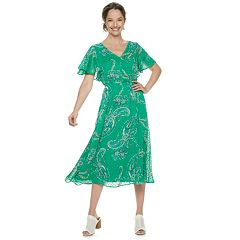 Women's Dana Buchman Flutter-Sleeve A-Line Dress