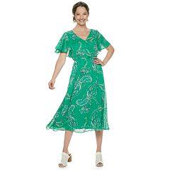 59e61009adc Women s Dana Buchman Flutter-Sleeve A-Line Dress