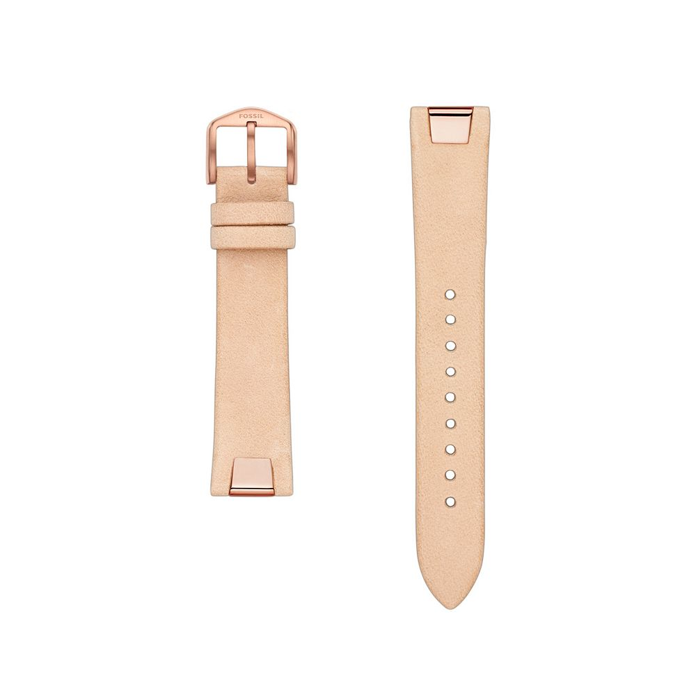 Fossil Women's 18 mm Cream Rose Pink Leather Watch Strap