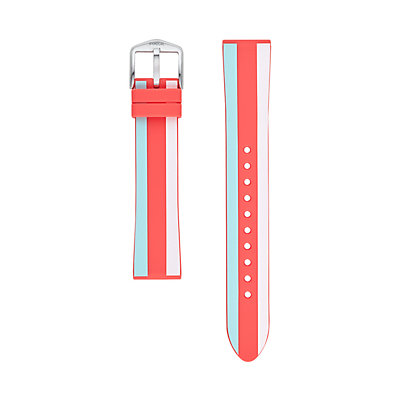Fossil Women's 18 mm Old Glory Stripe Silicone Watch Strap